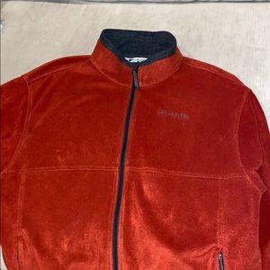 Columbia burnt orange fleece